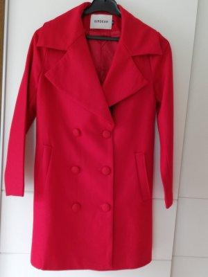 100% Fashion Abrigo de invierno rojo