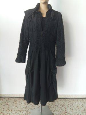 Manteau long noir nylon