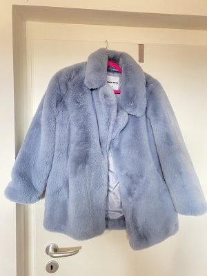 Tally Weijl Manteau en fausse fourrure bleu azur