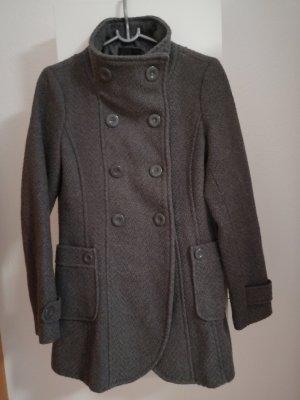 Amisu Abrigo de punto gris oscuro