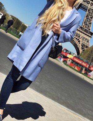 Zara Manteau oversized bleu azur