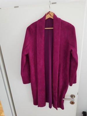 Zara Woman Floor-Lenght Coat purple-brown violet