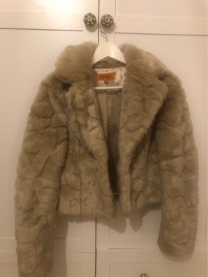 Different Fake Fur Coat beige-oatmeal