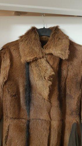 Manteau en cuir multicolore