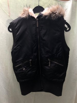 Madonna Hooded Coat black