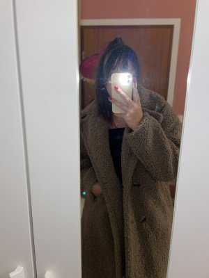 New Yorker Manteau de fourrure bronze-marron clair