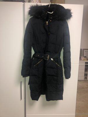 Zara Abrigo de plumón azul oscuro