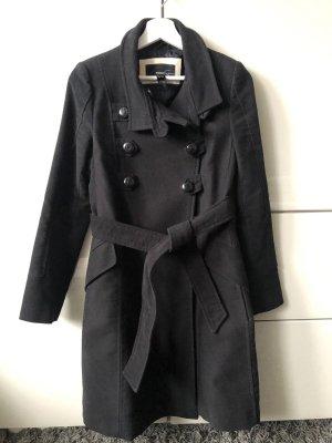 Mango Suit Abrigo de piloto negro