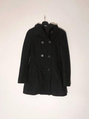 Amisu Marynarski płaszcz czarny