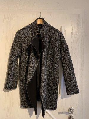 H&M Długa kurtka czarny-szary