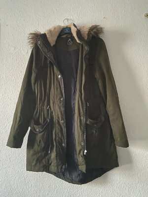 Primark Abrigo de invierno verde oscuro