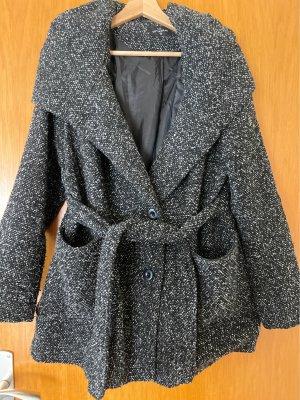 C&A Down Coat black-white