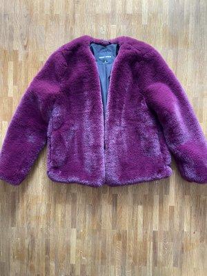Pimkie Manteau en fausse fourrure noir-violet