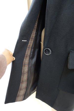 Zara Giacca di lana nero-marrone-nero
