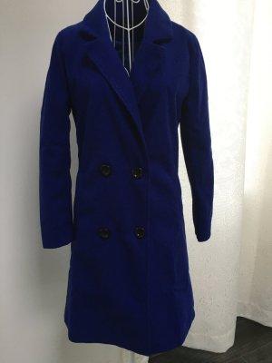 Cappotto in pile blu Poliestere