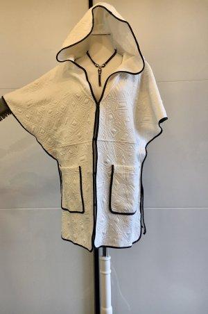 Manteau à capuche blanc-noir