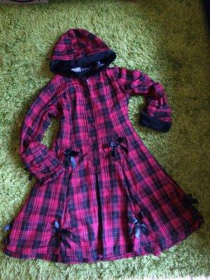 Poizen Industries Hooded Coat black-dark red