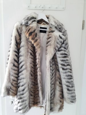 Dorothy Perkins Fake Fur Jacket grey-natural white