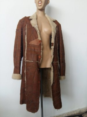 Bomboogie Leather Coat cognac-coloured leather