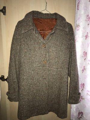 Cappotto in lana marrone-grigio-bronzo