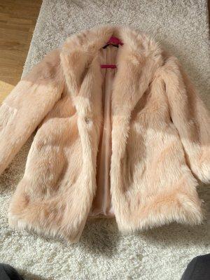 Płaszcz ze sztucznym futrem Wielokolorowy