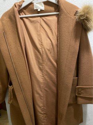 One More Story Cappotto con cappuccio bronzo-color cammello