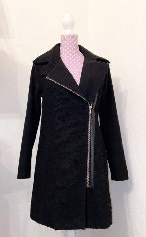 Ann Christine Manteau en laine noir-argenté