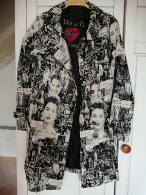 Disigual Between-Seasons-Coat white-black