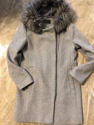 Esprit Hooded Coat silver-colored-light grey