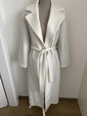 Manteau long blanc cassé