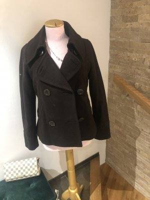 Marynarski płaszcz ciemnobrązowy