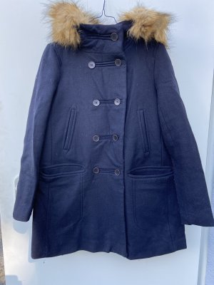 Zara Basic Hooded Coat black