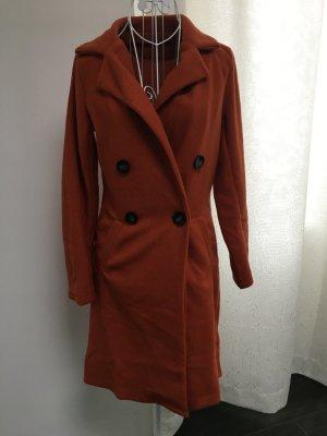Cappotto in pile marrone-cognac