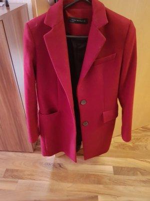 Zara Coat Dress dark red