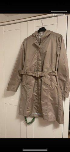 Płaszcz przeciwdeszczowy szaro-brązowy