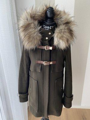 Zara Basic Manteau à capuche ocre