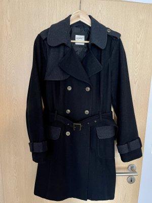 Esprit Manteau mi-saison noir-gris anthracite