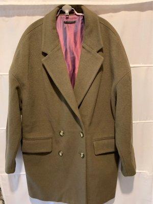 Sisley Cappotto corto grigio-verde Lana
