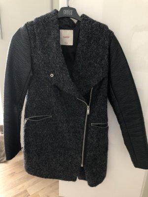 Pull & Bear Winterjas zwart-grijs
