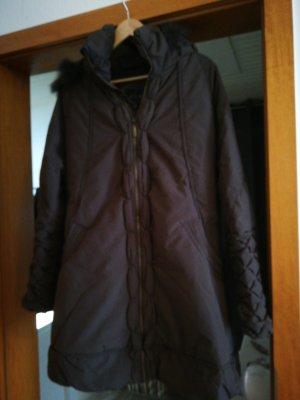 Xuna Cappotto con cappuccio marrone-grigio-marrone-nero