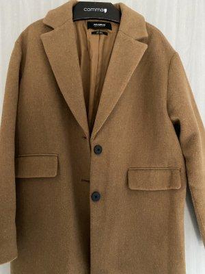 Pull & Bear Heavy Pea Coat beige-ocher