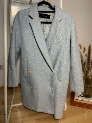 Zara Oversized jas lichtblauw