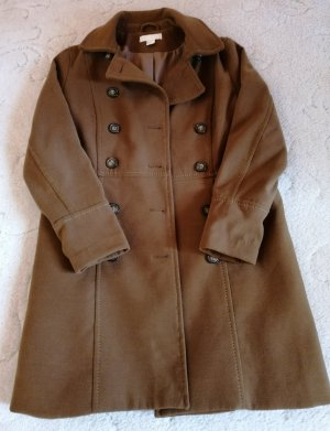 H&M Wool Jacket cognac-coloured polyester