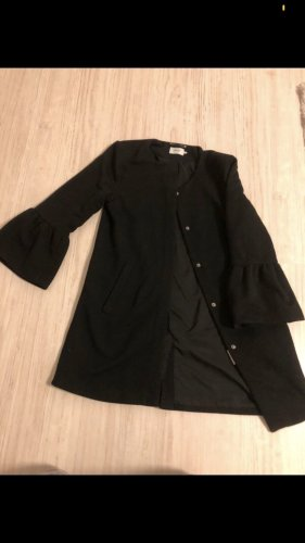 Only Cappotto in pile nero