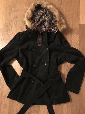 Melrose Manteau à capuche noir