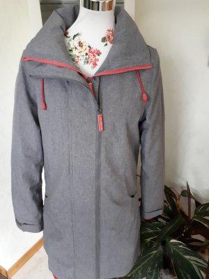 Alife & Kickin Płaszcz zimowy szary-różowy