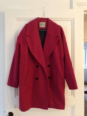 American Vintage Abrigo de lana magenta-rosa