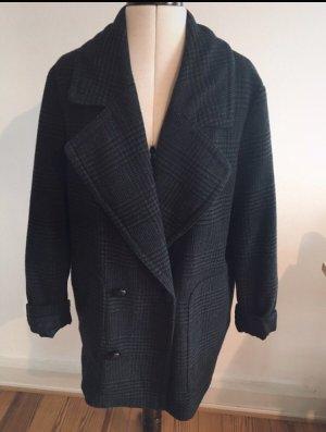 Mantel Anthrazit kartiert grau