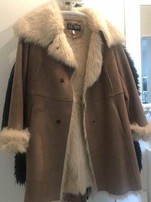 Armani Jeans Fake Fur Coat camel