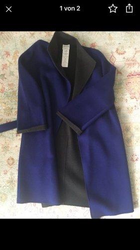 Armani Collezioni Cappotto in pile viola scuro